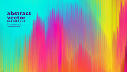 colorful glitch lines abstract background Wall mural