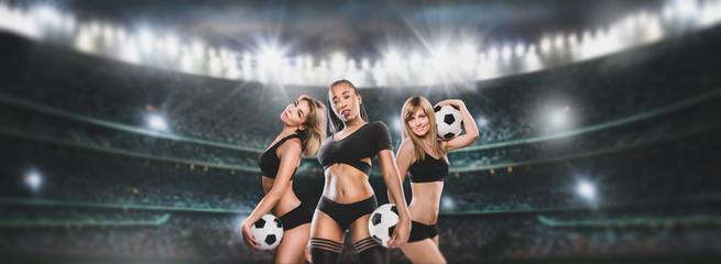 woman soccer team player holding ball