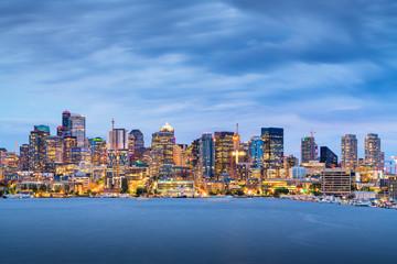 Seattle, Washington, USA skyline on Lake Union