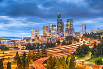 Seattle, Washington, USA downtown skyline