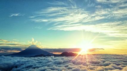 Fototapeta 富士山からの日の出 obraz