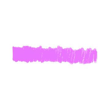 Purple marker line hand drawn in vertical strokes