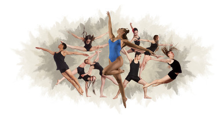 Fitness dance collage - Image