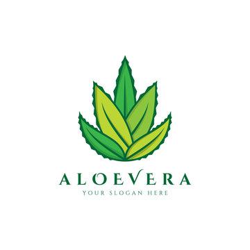 Fresh Aloe Vera Nature Logo Icon