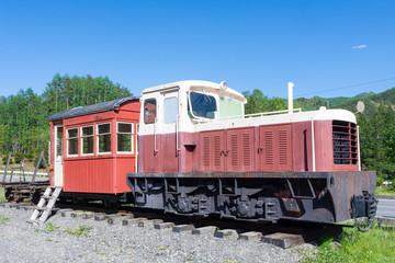 開田高原に展示されている木曽の森林鉄道