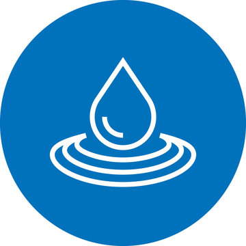 Water Drop Ripple Outline Icon