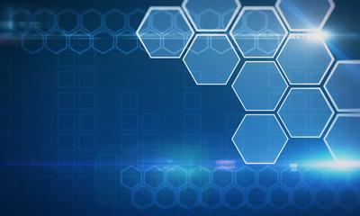 Fotobehang - Creative blue hexagonal background