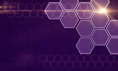 Fotobehang - Creative purple hexagonal background