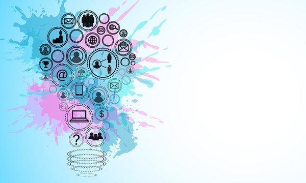 Creative social media lamp