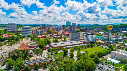 Knoxville, Tennessee USA Downtown Skyline Aerial Wall mural