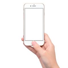スマートフォンを操作する女性の手