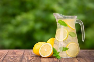 lemonade in glass jug