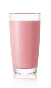 strawberry smoothie in glass