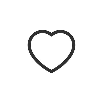 Like Heart icon. Live stream video, chat, likes. Valentines Day on white background Vector illustaration.