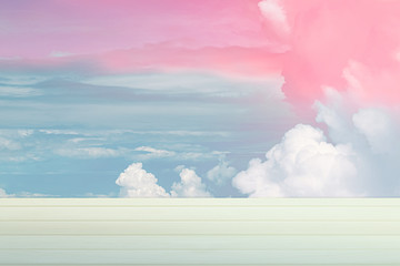 beautiful background, colourful sky with copy space.