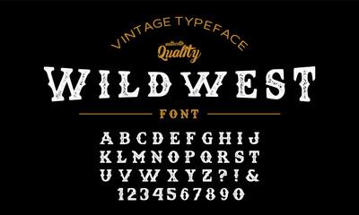 Textured font.