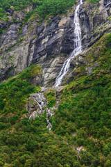 beautiful waterfalls in the woods