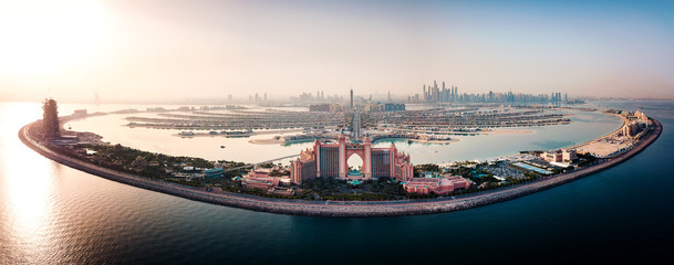 Keuken foto achterwand Dubai The Palm island in Dubai aerial view