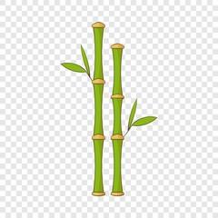 Green bamboo stems icon. Cartoon illustration of green bamboo stems vector icon for web design
