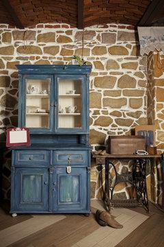 antique cupboard indoor