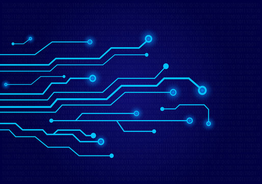 Circuit board background design. Abstract technological vector illustration.