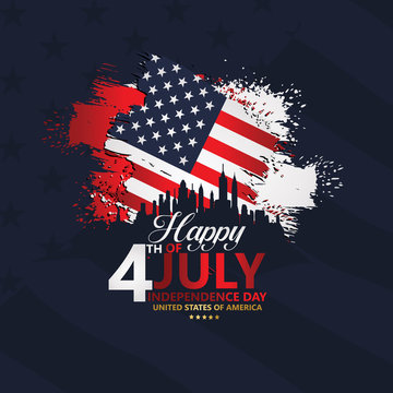 Fourth of July Independence Day, Vector illustration