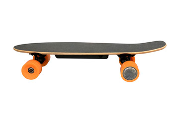 skate with orange wheels isolated on white background