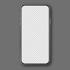 Mobile phone white mockup .
