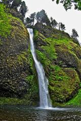 waterfall and lake