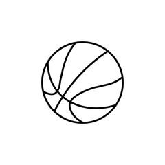 Basketball ball icon. Line style. Vector.