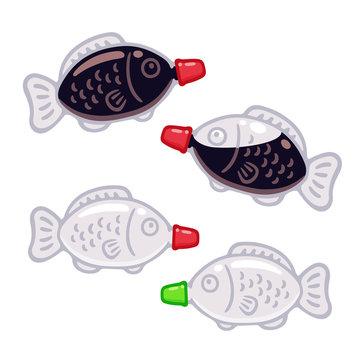 Fish shaped soy sauce bottle