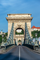 Szechenyi Chain Bridge Vertical View