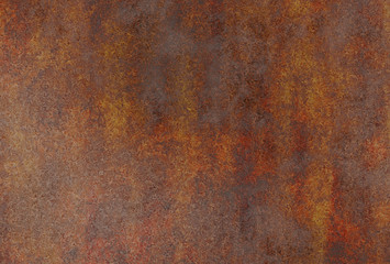 realistic rusty metal Wall mural