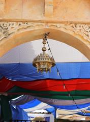 lantern at the entrance of an arab market