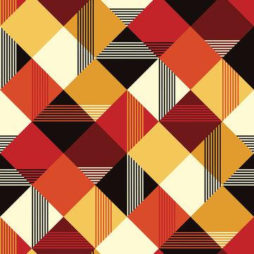 Vintage colors simple seamless pattern