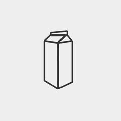 Milk vector icon illustration sign