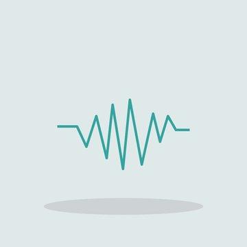 Sinusoid vector icon illustration sign