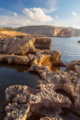 Coastline of Dwejra Bay. Gozo Island, Malta