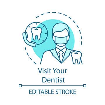 Visit your dentist concept icon