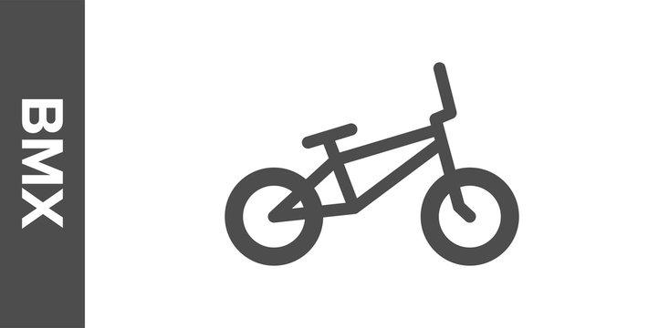 BMX bike silhouette. Vector flat icon.