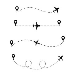 Airplane In The Dotted Line