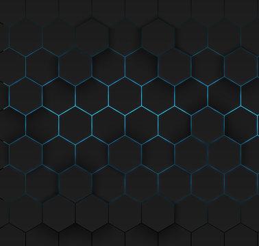 Abstract hexagonal background.
