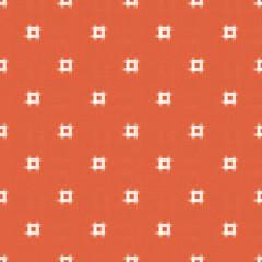 井絣柄のパターン素材-オレンジ