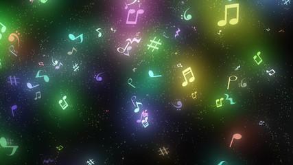 キラキラパーティクルエフェクト 音符