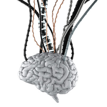 Robotic brain with wires