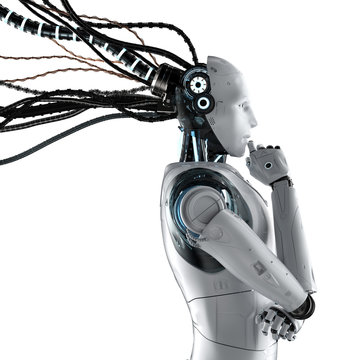 Robot with wires isolated