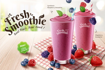 Mix berry smoothie ads