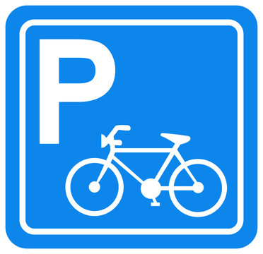 Bicycle Parking Symbol Sign, Vector Illustration, Isolate On White Background Label. EPS10