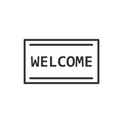welcome mat vector icon