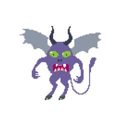 Obraz Monster. Isolated on white background. Vector illustration. Pixel art. - fototapety do salonu